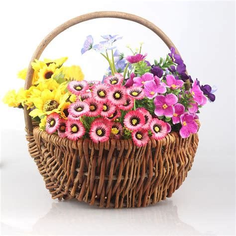 There are 36267 basket wall decor for sale on etsy, and they cost 60,87 $ on average. Handmade Hanging Decorative Wicker Woven Portable Basket Gathering for Home Garden Wall ...