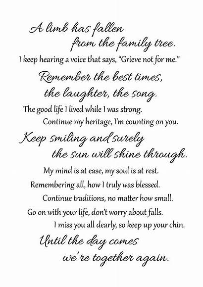 Funeral Poems Mom Grief Poem Quotes Memorial