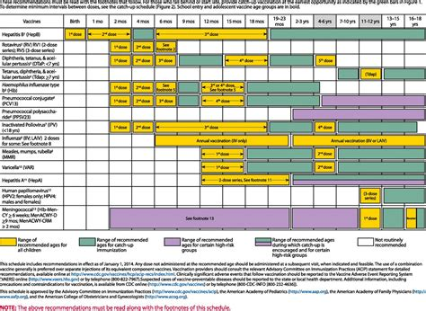 recommended childhood and adolescent immunization schedule 381 | F4.large