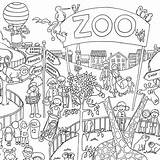 Coloring Posters Zoo Poster Colouring Giant Really sketch template