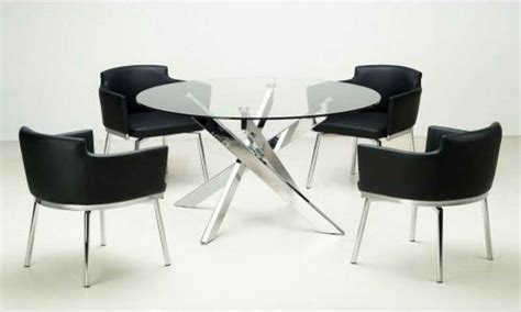 round glass breakfast table set round dining tables sets modern round glass dining table