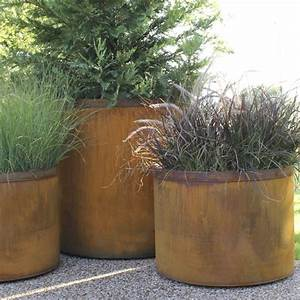 Outdoor, planter, large, planters, steel, cor ten