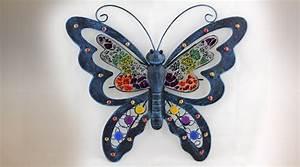 Papillon Décoration Murale : papillon d co murale multicolore ~ Teatrodelosmanantiales.com Idées de Décoration