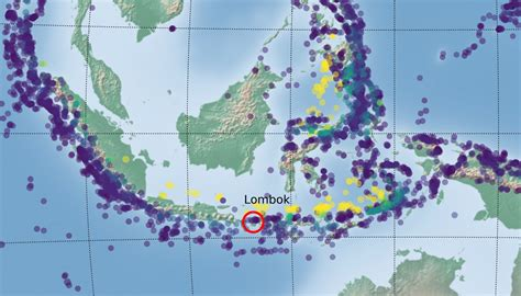 seismology lombok  fiji     earthquake