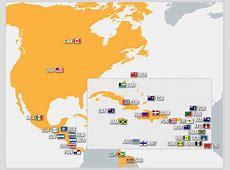 Cuáles países forman el área de CONCACAF Mundial