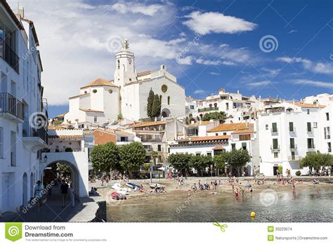 View Of The Beautiful Village Of Cadaques In The Costa