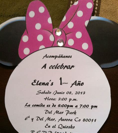 invitations spanish minnie mouse party