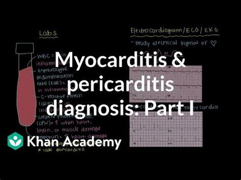diagnosis  myocarditis  pericarditis part  video