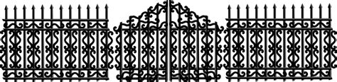 porte clé iron iron fence with gate by merlin2525 an iron fence with a
