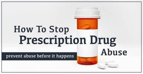 How To Stop Prescription Drug Abuse