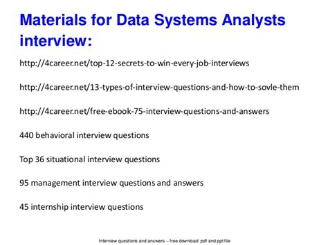 Marketing Analyst Questions by Data Systems Analysts Vinterview Questions And Answers