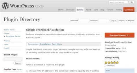 Prevent Trackback Spam