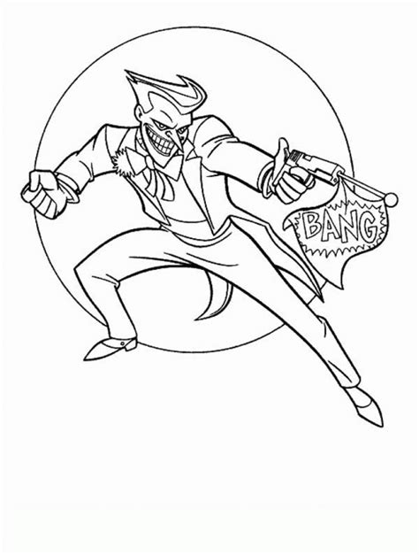 Coloring Joker by The Joker Coloring Pages Coloring Home