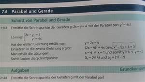Parabel Schnittpunkt Berechnen : parabel schnitt von parabel y 2 4x und gerade 2x y 4 mathelounge ~ Themetempest.com Abrechnung