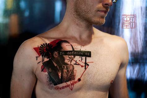 realistic trash polka tattoodo