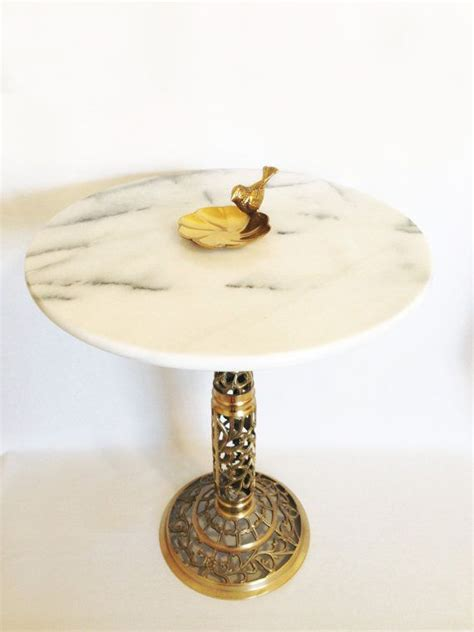 vintage brass  table gold plant stand ball  claw