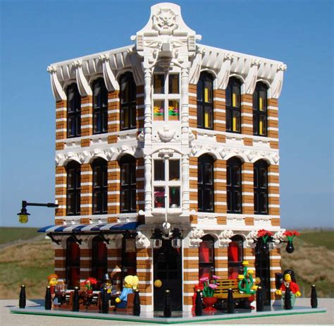 Lego Moc Modular Building  A Dutch Bar Zusammengebaut