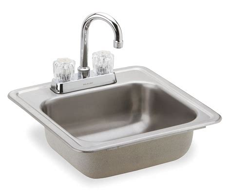 Bar Sink Size by Elkay 15 Quot X 15 Quot X 5 3 16 Quot Drop In Bar Sink Package With 12