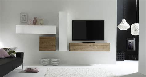 Meuble Tv Suspendu En Bois Meuble Tv 140 Cm Blanc