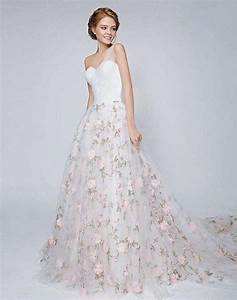 gorgeous floral wedding dresses that inspire happyweddcom With floral wedding dresses
