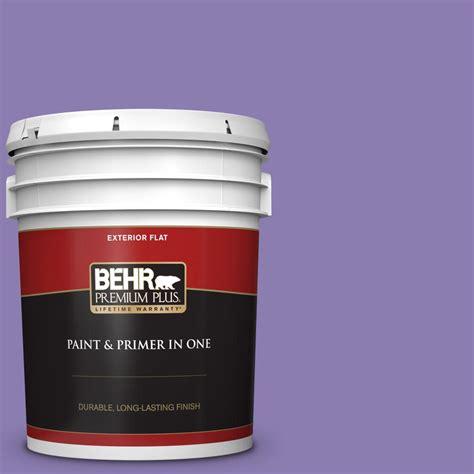 behr premium plus 5 gal ppu16 04 purple agate flat