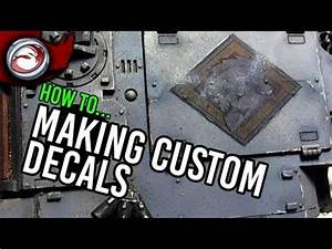 How to make custom decals youtube for How to get custom stickers made