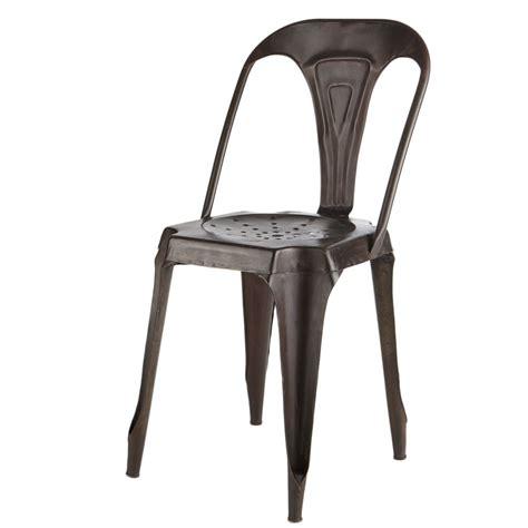 chaise industrielle maison du monde chaise indus en métal effet vieilli multipl 39 s maisons du