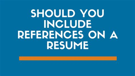 How Many References Should You Include On Your Resume by Why You Should Never Include References On A Resume And What To Do Instead Zipjob