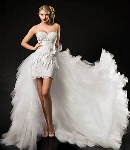 chic collection of short wedding dresses with long trains With short wedding dresses with train