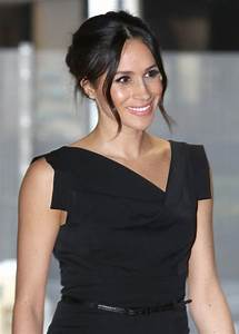 Meghan Markle stuns in Black Halo dress at the Women's ...