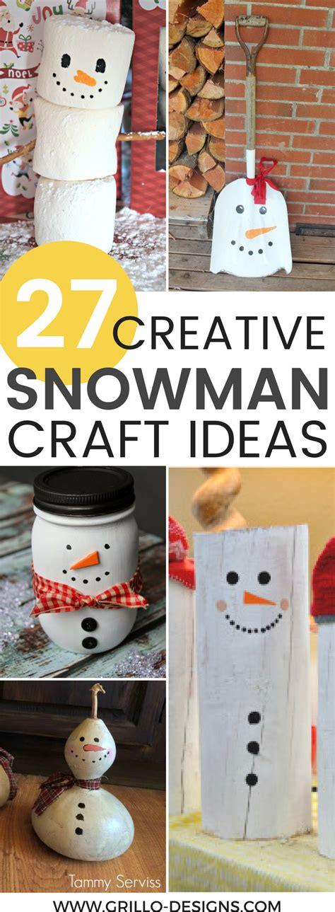 diy decorations 27 creative diy snowman decorations grillo designs