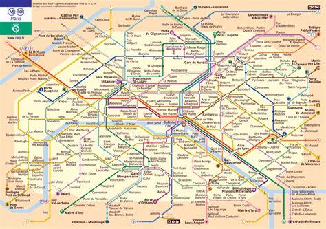 detailed tube map  paris paris detailed tube map
