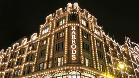 harrods christmas shop windows lights unveiled london