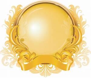 Gold ribbon graphics pattern vector Free Vector / 4Vector