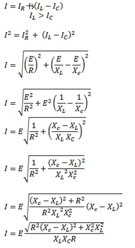 Rlc Parallel Circuit Formula Phasor Diagram