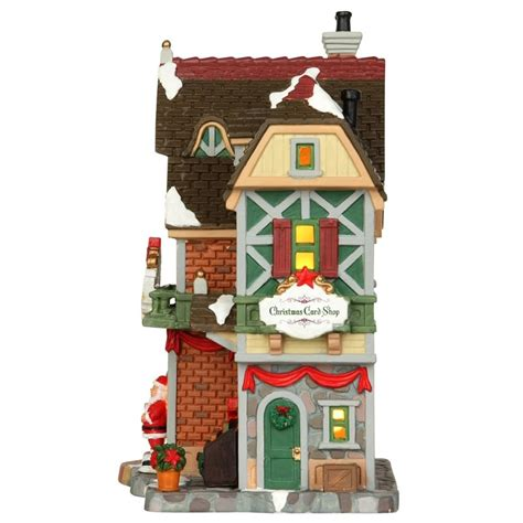lemax seasons greetings christmas card shop 35507