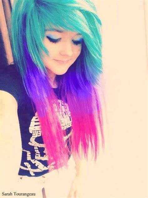 Colorful Emo Hair Hair Pinterest Colorful Hair I