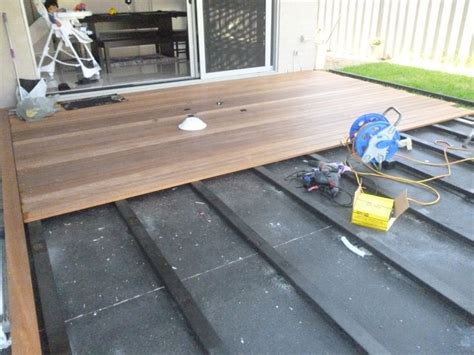 Merbau Decking Tiles by Deck Over Concrete For Front Porch Outdoors