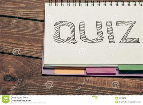 Quiz Stock Illustration Image Of Remark, Review