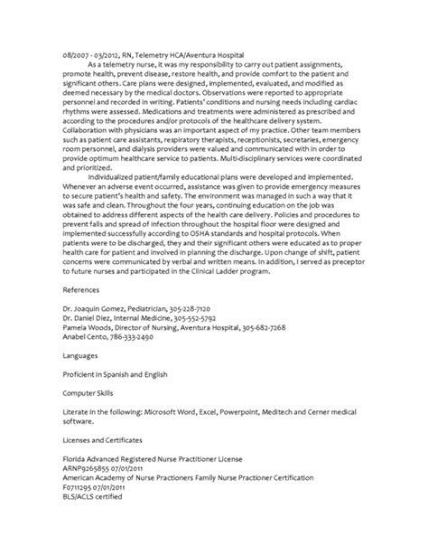 Berta Template by Bertha Carrion Np Curriculum Vitae