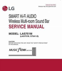 Lg Las751m Sound Bar System Original Service Manual And