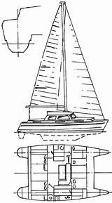 Catamaran Hull Plans Cat Coloring Hulls Template Pages Catamarans sketch template
