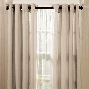 Curtains with sheers decorate the house with beautiful for Grommet curtains with sheers