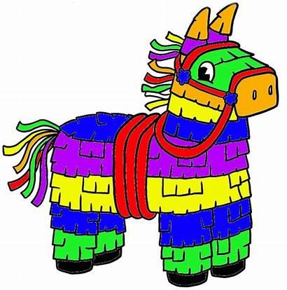 Pinata Clip Mexican Clipart Donkey Burrito Star