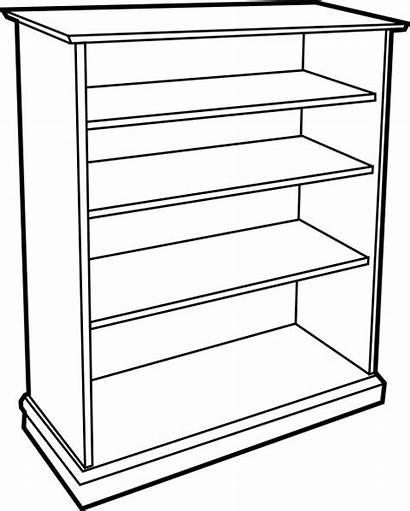 Clipart Bookcase Wooden Cupboard Empty Google