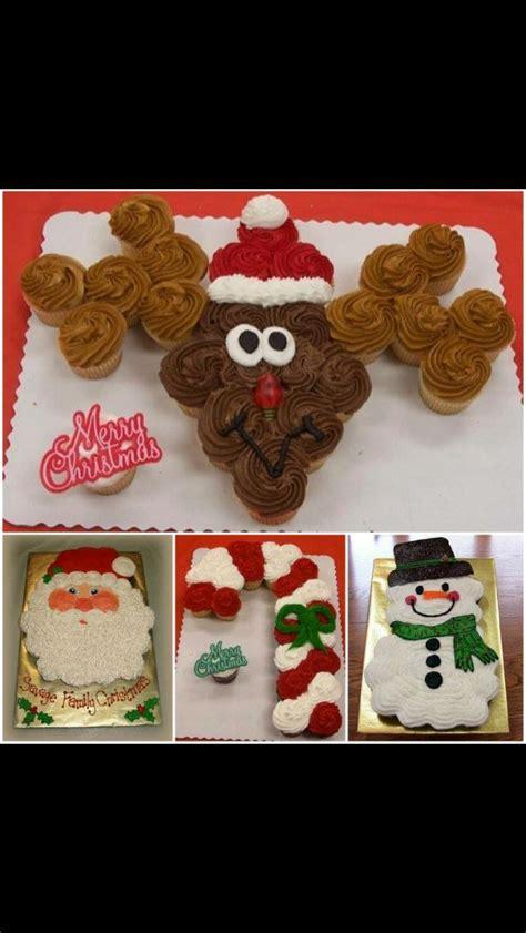 santa cupcakes ideas  pinterest christmas