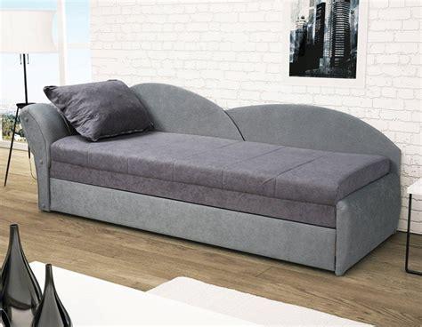 canapé lit une place canap lit gris pas cher avec rangement pour oreillers