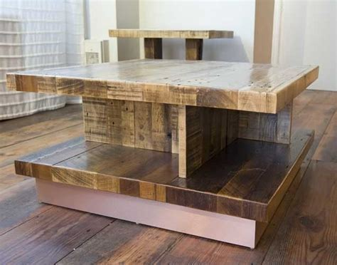 Hand Made Reclaimed Wood Coffee Table by Union Square