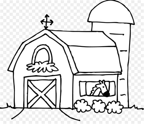 Schuur Kleurplaat by Silo Coloring Book Farmhouse Barn Barn Png