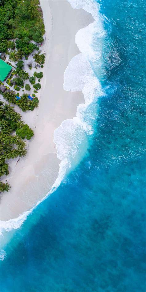 maldives beach beautiful aerial view iphone wallpaper